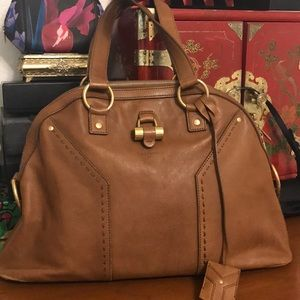 -YSL- Brown leather muse bag